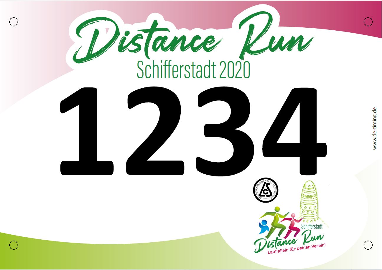 Startnummer Distance Run Schifferstadt